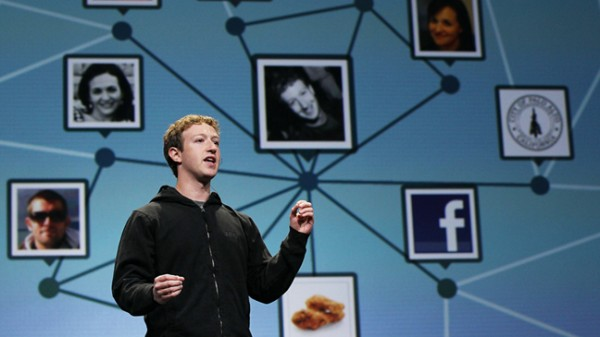 "In a single day, Zuckerberg said, ""about a billion new pieces ..."