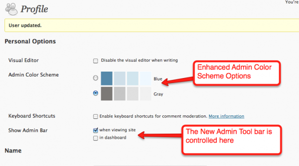 New User Options in WordPress 3.1