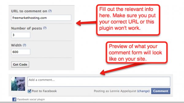 Setting Up Facebook Comments