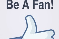 Facebook Fanpage Fanseite Button Hand Fan Book Face