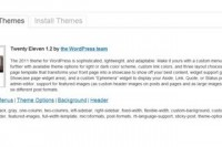 wordpress manage themes
