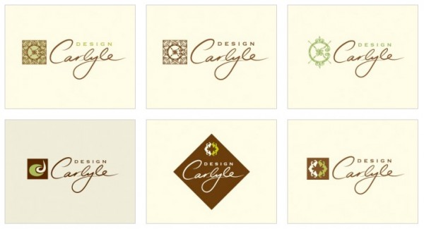 Custom Designed logo for Carlyle Design