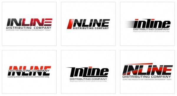 Custom Designed logo for Inline Distributing