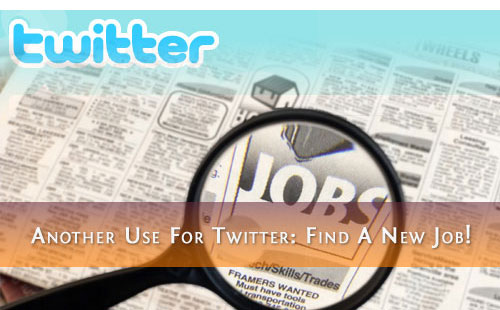 Using Twitter to get a job